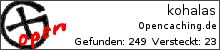 Opencaching.de-Statistik von kohalas