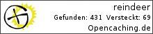 Opencaching.de-Statistik von reindeer