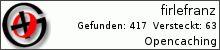 Opencaching.de-Statistik von firlefranz