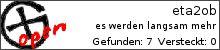 Opencaching.de-Statistik von eta2ob