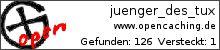 Opencaching.de-Statistik von juenger_des_tux