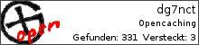 Opencaching.de-Statistik von dg7nct