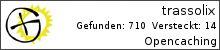 Opencaching.de-Statistik von trassolix