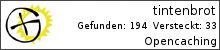 Opencaching.de-Statistik von tintenbrot