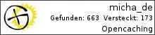 Opencaching.de-Statistik von micha_de
