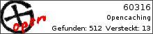 Opencaching.de-Statistik von 60316