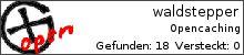 Statistik von waldstepper auf opencaching.de