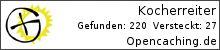 Opencaching.de-Statistik von Kocherreiter