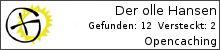 Opencaching.de-Statistik von Der olle Hansen