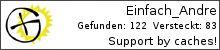 Opencaching.de-Statistik von Einfach_Andre