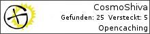 Opencaching.de-Statistik von CosmoShiva