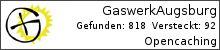 Opencaching.de-Statistik von GaswerkAugsburg
