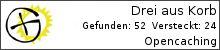 Opencaching.de-Statistik von Drei aus Korb