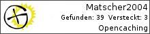 Opencaching.de-Statistik von Matscher2004