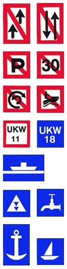 Schifffahrtszeichen (Auswahl)