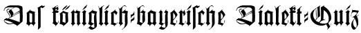 Das königlich-bayerische Dialekt-Quiz