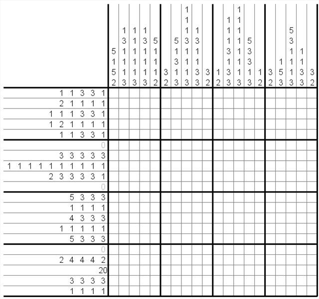 Rätsel - Nonogramm