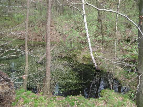 Steinbruch am Südwestzipfel der Fröhne