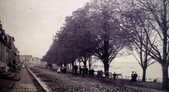 So sah es 1906 am Hafen aus.