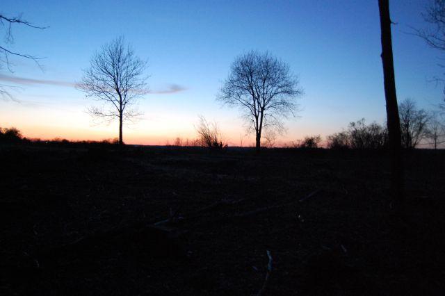 Sonnenuntergang auf der Schäfhalde