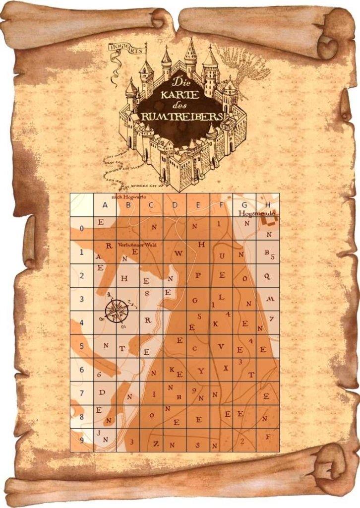 Die Karte des Rumtreibers