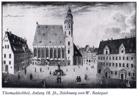 Thomaskirchhof, Anfang 18. Jahrhundert