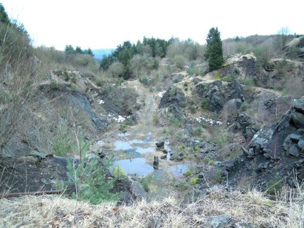 Blick in den Steinbruch