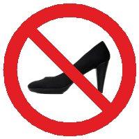 NO high-heels!