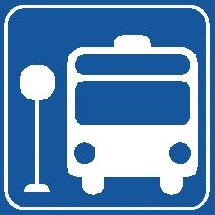 Bus hält