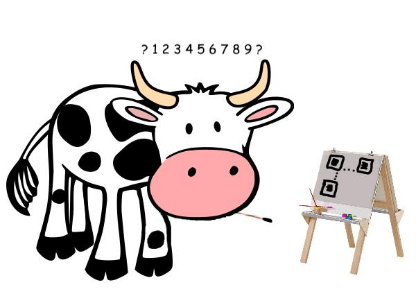 Kuh Erna malt nach Zahlen