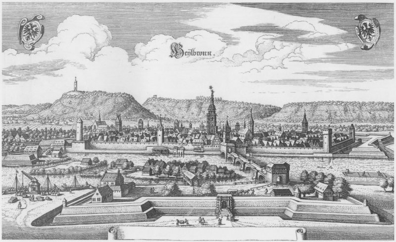 Heilbronn 1643 von Matthaeus Merian