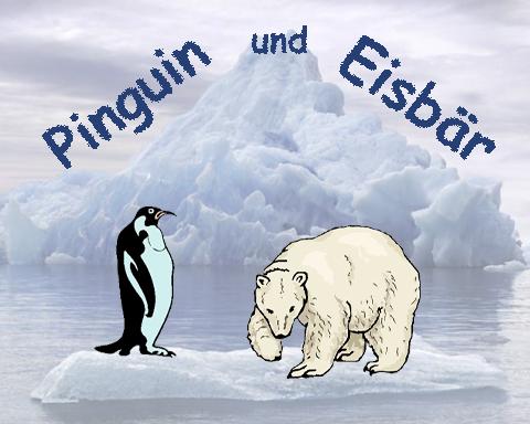 Pinguin und Eisbär