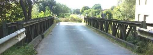 Blick über die Brücke, das Provisorium