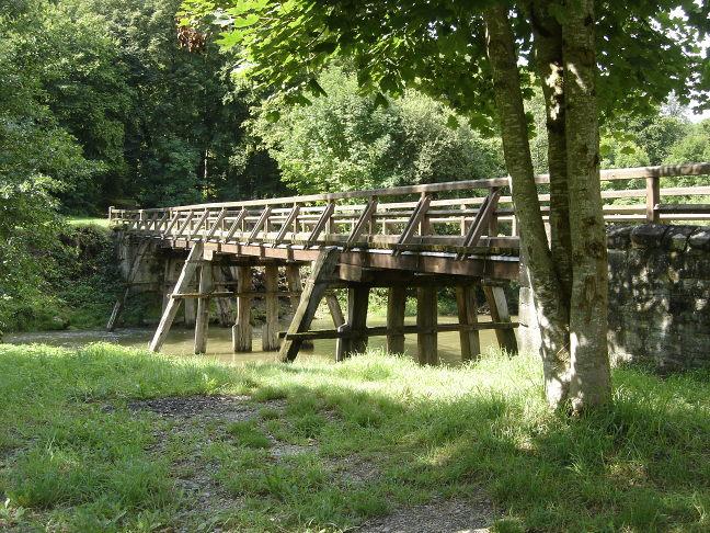 Pfahljochbrücke im Jahre 2010