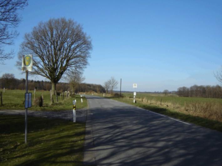 Haltestelle Richtung Luhnstedt heute