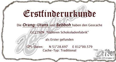 FTF Urkunde