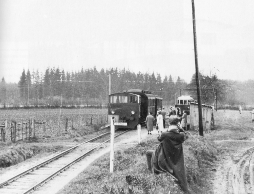 Haltestelle Richtung Nindorf 1955