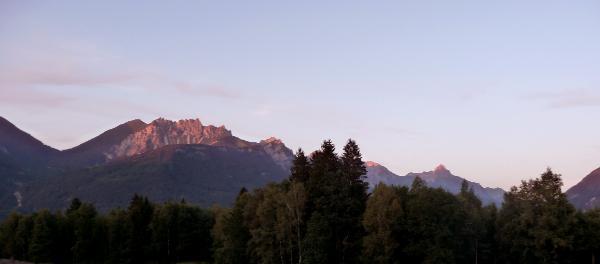 Die umliegenden Berge