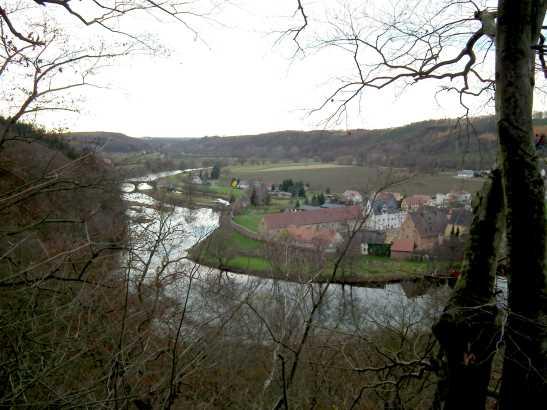 Blick vom östlichen Aussichtspunkt auf Klosterbuch