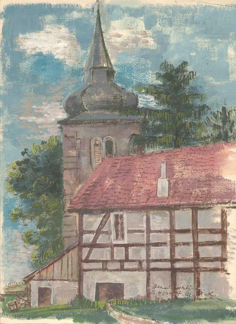 Alter Kirchturm in Hennef (M. Schmitz-Kühne)