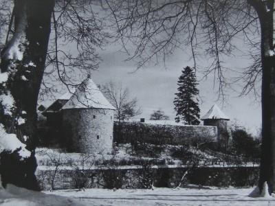 Historische Aufnahme vom Sonnen- und Pulverturm