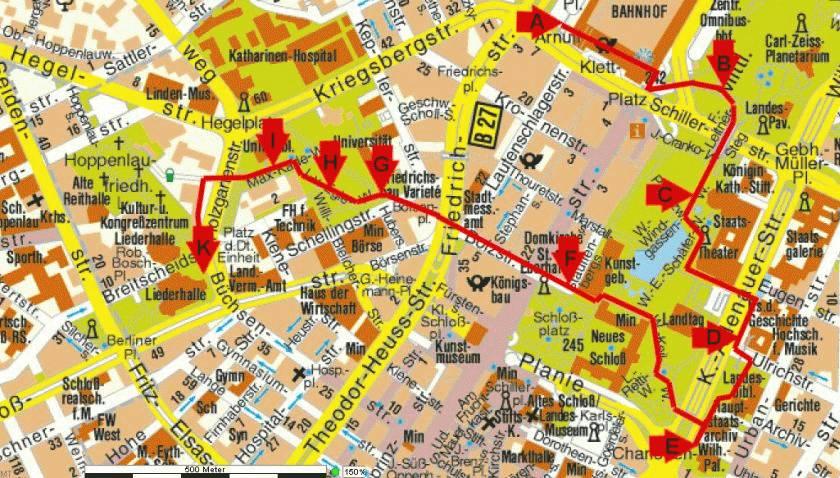 Stadtplan Stutgart