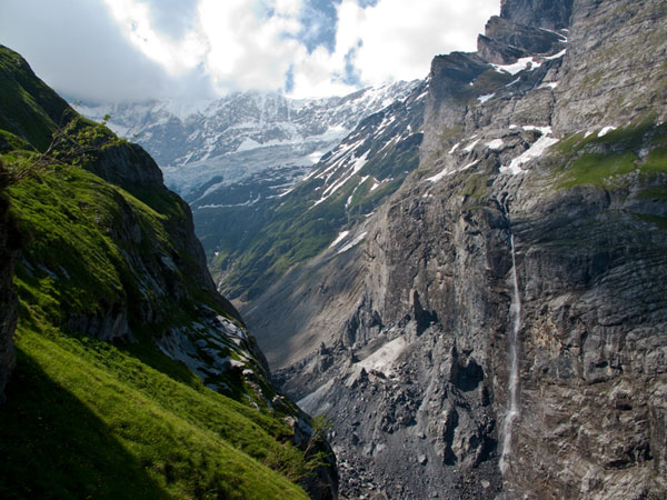 Rock fall at Eiger