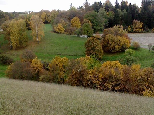 im Herbst: der Gegenhang