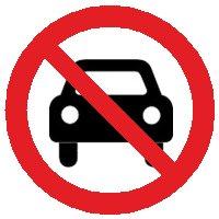 NO car!