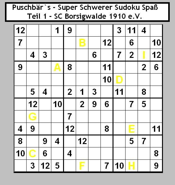 Sudoku - Teil 1