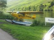 Wasserflugzeug an der Mosel