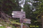 Follow hiking trail no. 6. Folge dem Wanderweg 6.